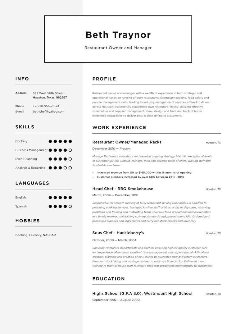 create your job winning resume  u00b7 resume io